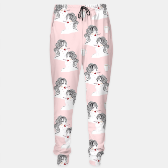 Thumbnail image of Coffee & Cigarettes__Fashion Illustration Sweatpants, Live Heroes