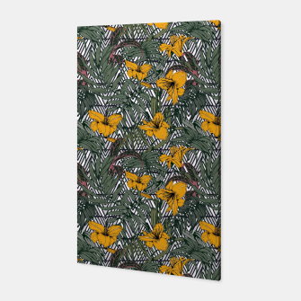 Thumbnail image of Tribal tropical bloom Canvas, Live Heroes