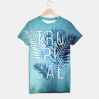Thumbnail image of Tropical Typo T-Shirt, Live Heroes
