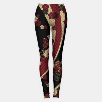 Thumbnail image of Japanesque flower and butterfly Leggings, Live Heroes