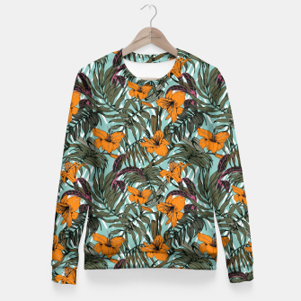 Thumbnail image of Pattern Delicate botanical jungle Sudadera entallada, Live Heroes
