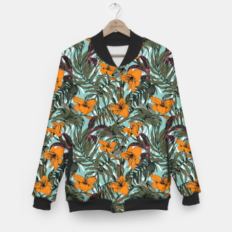 Thumbnail image of Pattern Delicate botanical jungle Chaqueta de béisbol, Live Heroes