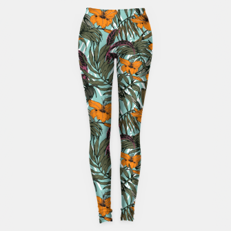 Thumbnail image of Pattern Delicate botanical jungle Leggings, Live Heroes