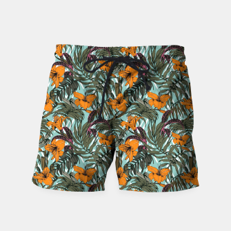 Thumbnail image of Pattern Delicate botanical jungle Pantalones de baño, Live Heroes