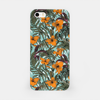Thumbnail image of Pattern Delicate botanical jungle Carcasa por Iphone, Live Heroes