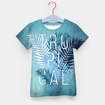 Thumbnail image of Tropical Typo T-Shirt für Kinder, Live Heroes