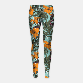 Thumbnail image of Pattern Delicate botanical jungle Leggings para niña, Live Heroes