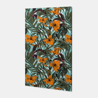 Thumbnail image of Pattern Delicate botanical jungle Canvas, Live Heroes