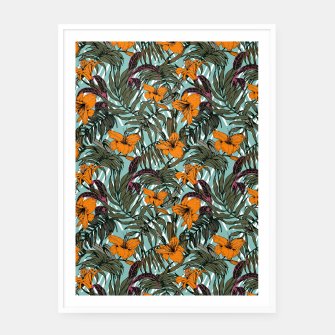 Thumbnail image of Pattern Delicate botanical jungle Cartel con marco, Live Heroes