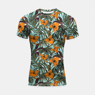 Thumbnail image of Pattern Delicate botanical jungle Shortsleeve Rashguard, Live Heroes