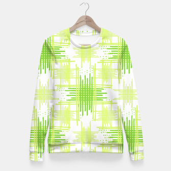 Miniature de image de Intersecting Lines Pattern Design Fitted Waist Sweater, Live Heroes