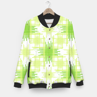 Miniature de image de Intersecting Lines Pattern Design Baseball Jacket, Live Heroes
