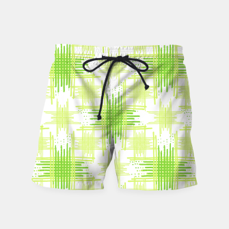 Miniature de image de Intersecting Lines Pattern Design Swim Shorts, Live Heroes