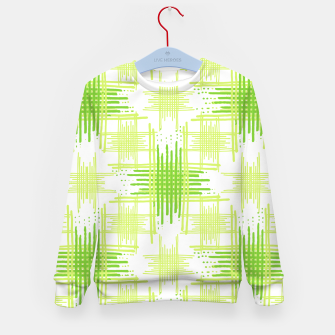 Miniature de image de Intersecting Lines Pattern Design Kid's Sweater, Live Heroes