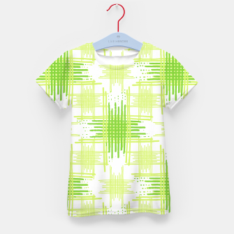 Miniature de image de Intersecting Lines Pattern Design Kid's T-shirt, Live Heroes