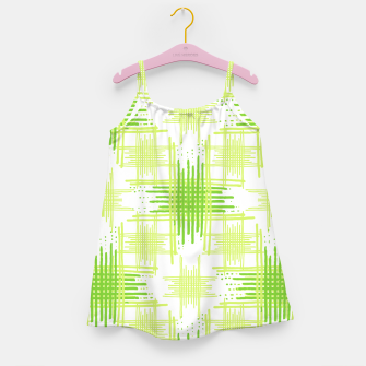 Miniature de image de Intersecting Lines Pattern Design Girl's Dress, Live Heroes