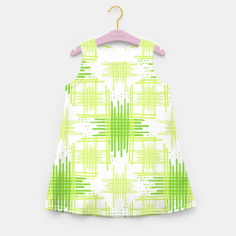 Miniature de image de Intersecting Lines Pattern Design Girl's Summer Dress, Live Heroes