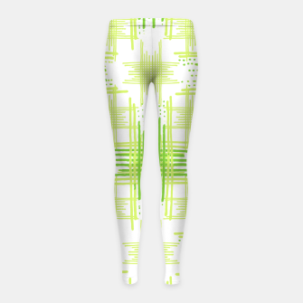 Miniature de image de Intersecting Lines Pattern Design Girl's Leggings, Live Heroes