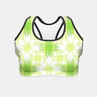 Miniature de image de Intersecting Lines Pattern Design Crop Top, Live Heroes