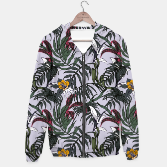 Thumbnail image of Delicate botanical jungle pattern Sudadera con capucha, Live Heroes