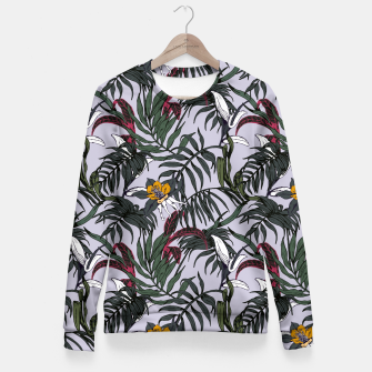 Thumbnail image of Delicate botanical jungle pattern Sudadera entallada, Live Heroes