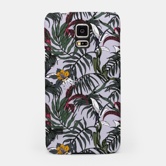 Thumbnail image of Delicate botanical jungle pattern Carcasa por Samsung, Live Heroes