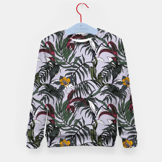 Thumbnail image of Delicate botanical jungle pattern Sudadera para niños, Live Heroes
