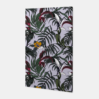 Thumbnail image of Delicate botanical jungle pattern Canvas, Live Heroes