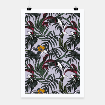 Thumbnail image of Delicate botanical jungle pattern Cartel, Live Heroes