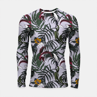 Thumbnail image of Delicate botanical jungle pattern Longsleeve Rashguard, Live Heroes