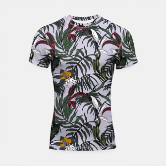 Thumbnail image of Delicate botanical jungle pattern Shortsleeve Rashguard, Live Heroes