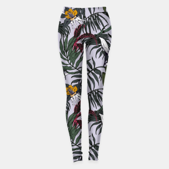 Thumbnail image of Delicate botanical jungle pattern Leggings, Live Heroes
