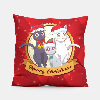 Thumbnail image of Merry Xmas Cats! Pillow, Live Heroes