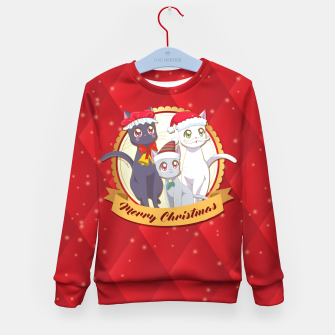 Thumbnail image of Merry Xmas Cats! Kid's Sweater, Live Heroes