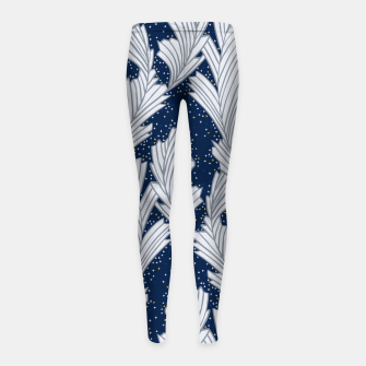 Miniature de image de Frost Flower Platinum and Blue Girl's Leggings, Live Heroes