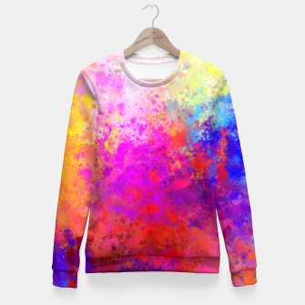 Colorful Splatter Fitted Waist Sweater Bild der Miniatur