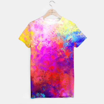 Colorful Splatter T-shirt Bild der Miniatur