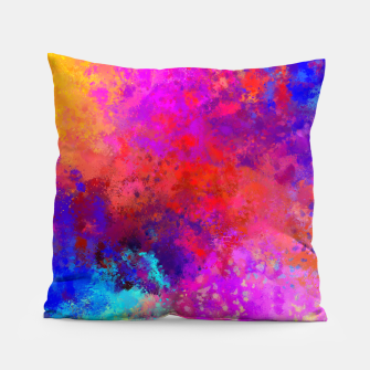 Colorful Splatter Pillow Bild der Miniatur