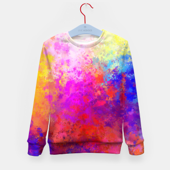 Colorful Splatter Kid's Sweater Bild der Miniatur