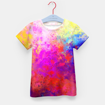 Colorful Splatter Kid's T-shirt Bild der Miniatur