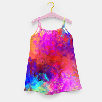 Colorful Splatter Girl's Dress Bild der Miniatur