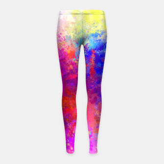 Colorful Splatter Girl's Leggings Bild der Miniatur