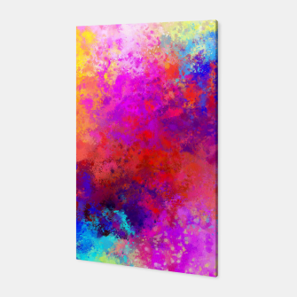 Colorful Splatter Canvas Bild der Miniatur