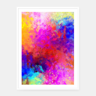 Colorful Splatter Framed poster Bild der Miniatur