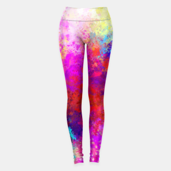 Colorful Splatter Leggings Bild der Miniatur