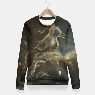 Miniatur Botanical Bird Fitted Waist Sweater, Live Heroes