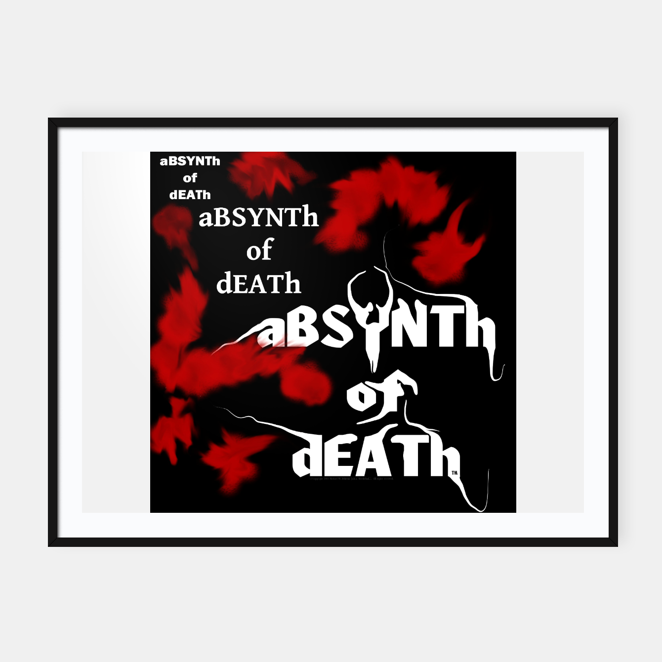 Image of aBSYNTh of dEATh dimensions II (framed print) - Live Heroes