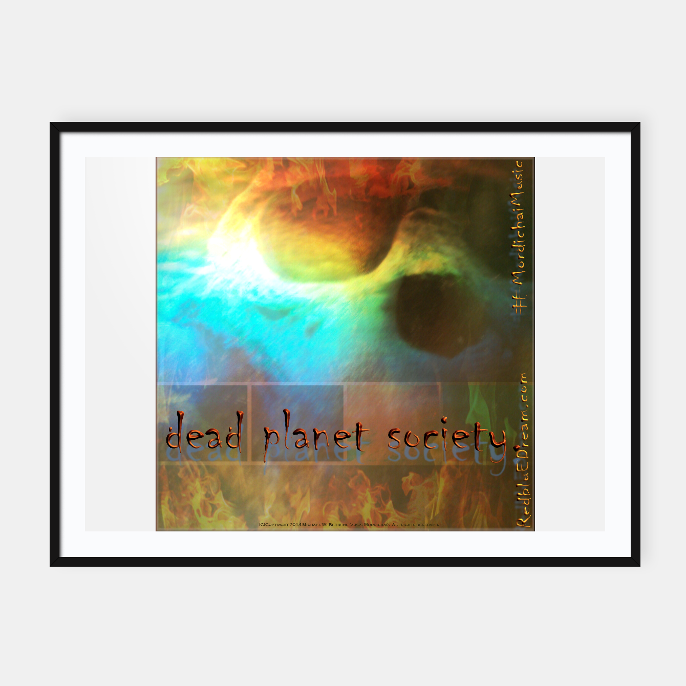 Image of Dead Planet Society abalone skull (framed poster wide) - Live Heroes