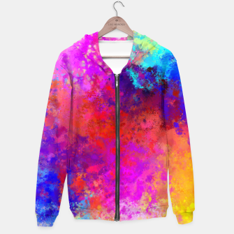 Thumbnail image of Colorful Splatter Hoodie, Live Heroes