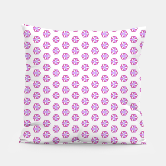 Thumbnail image of Hexagon Flowers 03 Pillow, Live Heroes